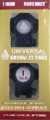 "UTG Accushot Medium Height 1"" Rings for Airgun/.22"