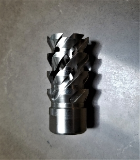 1/2x28 Heavy Barrel .223/5.56 Stainless Muzzle Brake