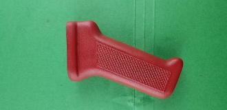 Bulgy 74 grip, Fire Engine Red, Blasted