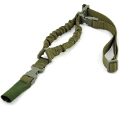 Tactical 1-point shock absorbing sling - Green
