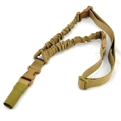 Tactical 1-point shock absorbing sling - Khaki