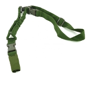 Tactical 1-point shock absorbing sling 1000D Nylon - Green