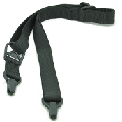 Tactical 2-point sling with clip attachment points - Black