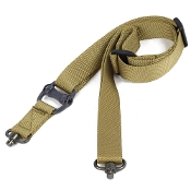 Tactical 1- or 2-point QD Swivel Sling - Khaki